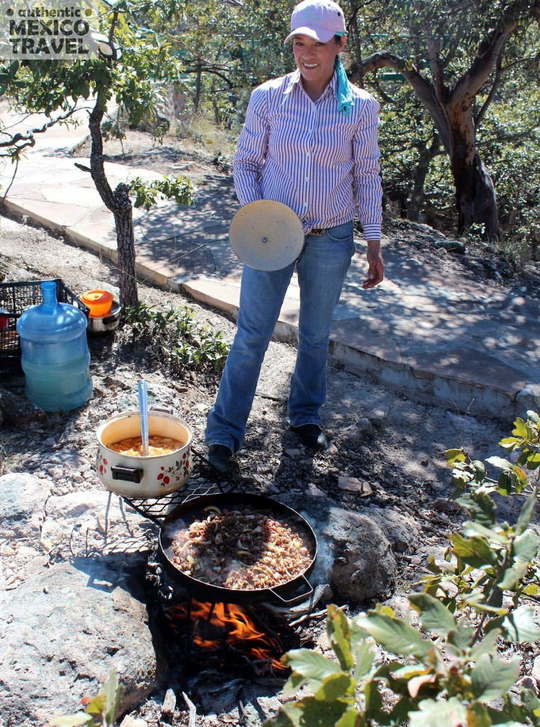 Lola Mancinas fixed us a traditional discada high on the edge of Copper Canyon for a recent trip.